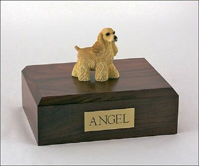 Cocker Spaniel Pet Funeral Cremation Urn Available in 3 Diff Colors & 4 Sizes