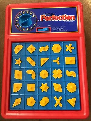 1989 1998 Milton Bradley Perfection Board Game Complete WORKS GREAT match shapes