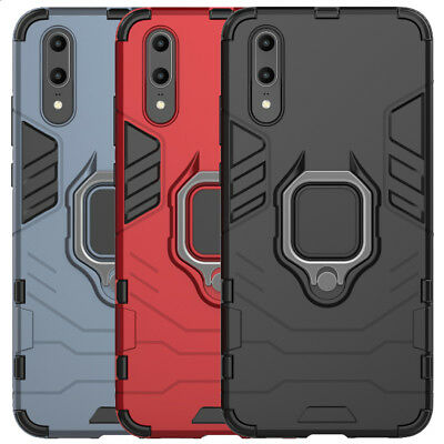 For Huawei P30 P20 Pro Mate 20 Lite P Smart Case Rugged Armor Ring Stand Cover