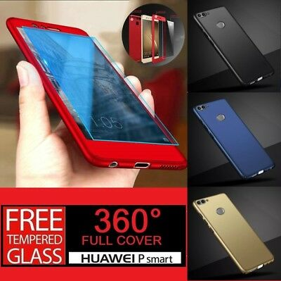 For Huawei P Smart 360° Full Protective Hybrid Case + Tempered Glass Cover