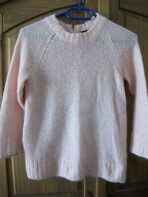 be7cfa15d90 LADIES GIRLS H M Pink Knitted Woolly Jumper Size 8 - £3.00