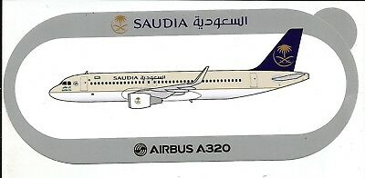 STICKER AUTOCOLLANT AIRBUS A320 SAUDIA AIRLINES  - Neuf