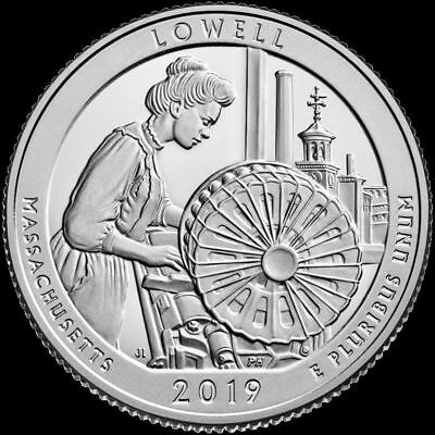 2019 P D Massachusetts Lowell  National Historic National Park 2 Quarter PRESALE