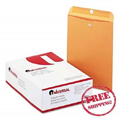 100 Universal 10x13 Clasp Envelopes Mailing Kraft Clasp Manila Catalog Brown #97