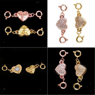 10pcs Crystal Magnetic Converter Jewelry Clasp Bracelets Necklace Connector