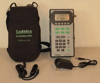 Sadelco Displaymax 5000 CATV Signal Level Meter - All Options Enabled