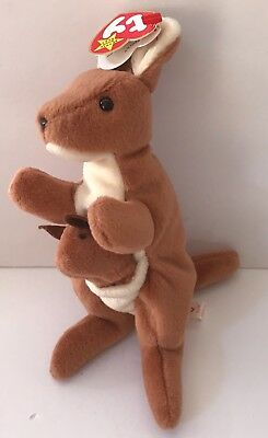 46ff61bb466 TY BEANIE BABY ~ POGO the Kangaroo ~ MINT with MINT TAGS ~ RETIRED ...