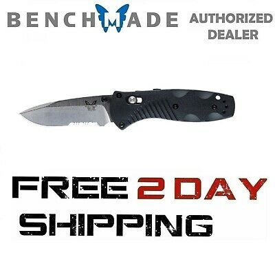 Benchmade Mini Barrage 585S Knife Drop-Point Axis Assist Combo Edge Satin Blade