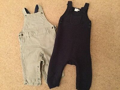 2 Pairs Of Dungarees M&S, Boots, 3-6 And 6-9months Immaculate