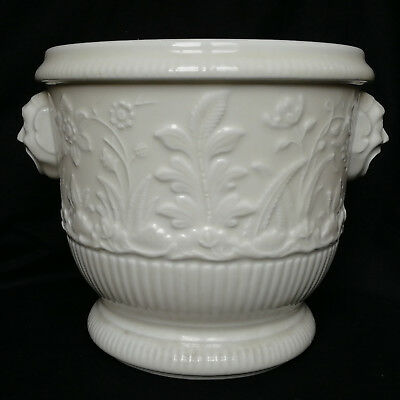 RAVISSANT CACHE POT EN PORCELAINE DE PARIS INSPIRE DE SAINT CLOUD 19ème SIECLE