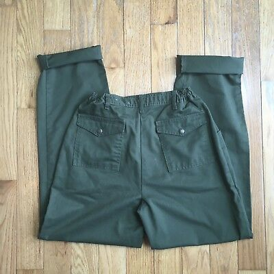 """Boy Scouts Of America Official Uniform Green Cargo Pants W29"""" Size 12"""