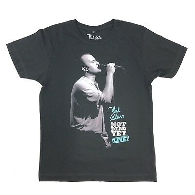 PHIL COLLINS Not Dead Yet T-shirt Black S Small Tour Double Sided Official