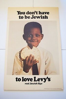 """Original """"You Don't Have to Be Jewish"""" Levy's Rye New York Subway Poster Mad Men"""
