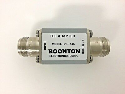 Boonton Electronics Tee Adapter 91-14A / 9114A, Type N, 50 ohm