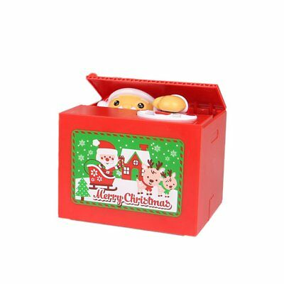 Electronic Christmas Money Box Santa Claus Piggy Bank Steal Coin For Kids GiftQG