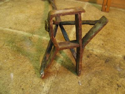 Antique Cattle Branding Iron YR Blacksmith Hand Forged Made