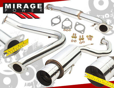 "4/"" TIP MUFFLER CATBACK CAT BACK EXHAUST 95-99 MIT ECLIPSE GS RS TALON NON-TURBO"