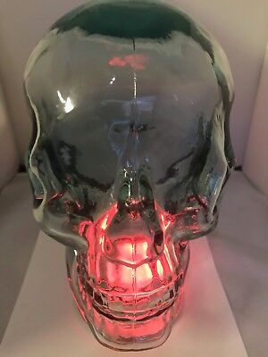 GLASS HUMAN Head SKULL LIFE SIZED RECYCLED from SPAIN Headphones Hat NEW