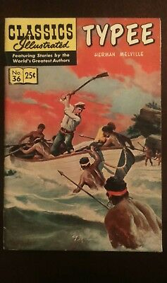 Classic Illustrated #36 High Grade Issue- Typee HRN 169