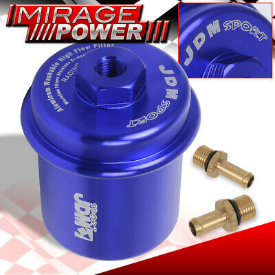 UNIVERSAL AUTO JDM VIP HIGH VOLUME PRESSURE MICRO MESH FUEL FILTER 200PSI RED