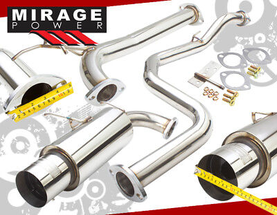 Perfomance 25 Stainless Exhaust Catback 45 Tip Silencer 90 91 92 93 Integra