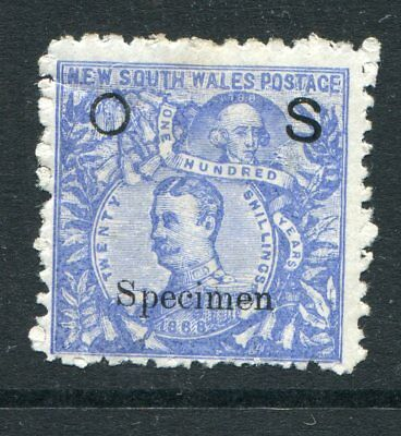 New South Wales 1890 20S Carrington Opt Os Specimen Spacefiller