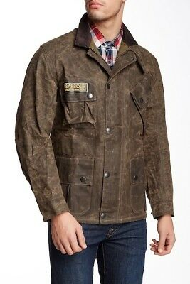 NWT $649 BARBOUR Deus Ex Machina Horace Wax Moto Jacket Olive Sz Lg * 50% OFF