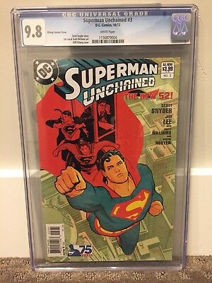 Superman Unchained #3 Cgc 9.8 Chiang Variant Cover