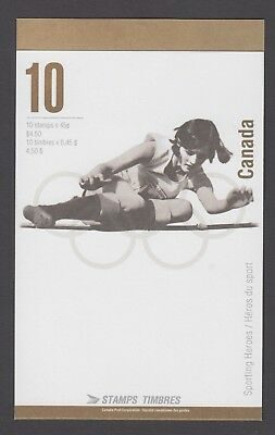 CANADA BOOKLET BK192b 10 x 45c OLYMPIC GOLD MEDALLISTS OPEN COVER WITH TI
