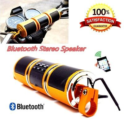 Bluetooth Motorcycle Audio Amplifier Stereo Waterproof Speaker MP3 USB/TF DC 12V
