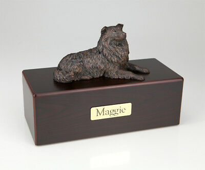 Collie Bronze Pet Funeral Cremation Urn Available in 3 Different Colors &4 Sizes