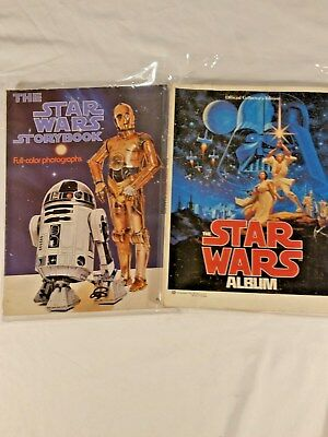 Vintage Collectable Star Wars StoryBook and Album LOT.