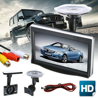 5 Inch TFT LCD HD Screen Monitor Car Rearview Reverse Backup Parking Camera Cam