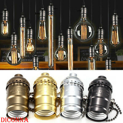 E27/26 Antique Retro Vintage With Chain Switch Light Base LED Light Lamp Bulb