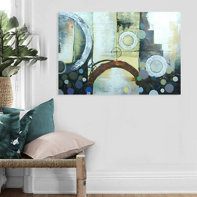 Modern Abstract Hand Painted Art Canvas Oil Painting Home Decor Framed Dreamland
