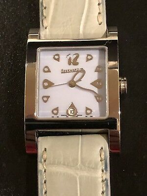 Eberhard Gingi Date Mother Of Pearl Woman's Watch, Leather Band, No. 61007
