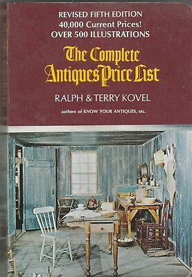 The Complete Antiques Price List-1972 by Ralph,Terry Kovel