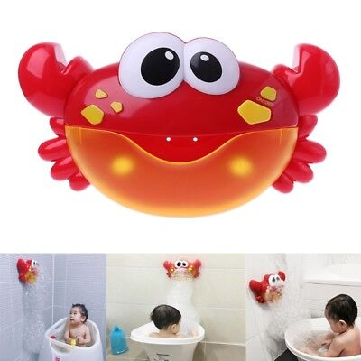 New Crab Bubble Machine Bathroom Bubble Maker Bath Toy Kid Baby Toy Newborn Gift