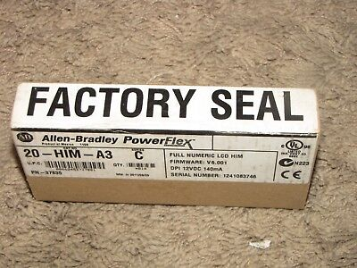 NEW *ALLEN BRADLEY* PowerFlex 20-HIM-A6 A HIM Module Opened