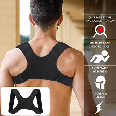 Posture Corrector Adjustable Support Back Shoulder Correction Brace Belt Strap