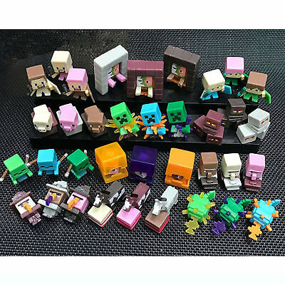 36 x Action Figure Minecraft Horse Squid Creeper Kuh Mini Figur Kinder Geschenke