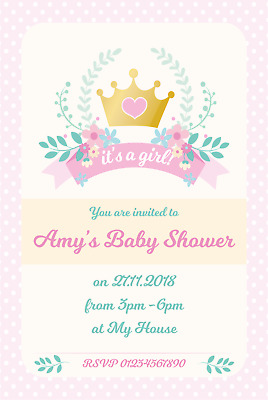 10 Beautiful Personalised Boy or Girl Baby Shower Invitations New 2019 Designs