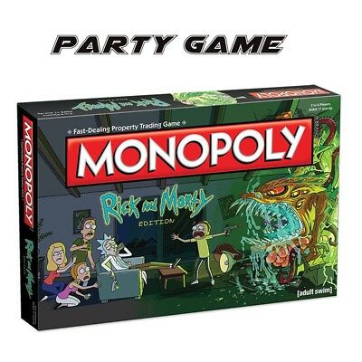 Monopoly: Rick And Morty Board Game Party Home Game Version Fun Gameplay New