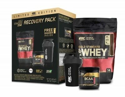 Optimum Nutrition Recovery Pack - Gold Standard Whey 100% + Shaker + BCAA's!