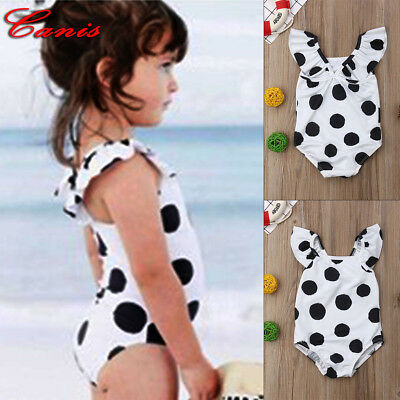 Polka Dot Toddler Kids Girls Bikini Swimwear Swimsuit Bathing Suit Beachwear