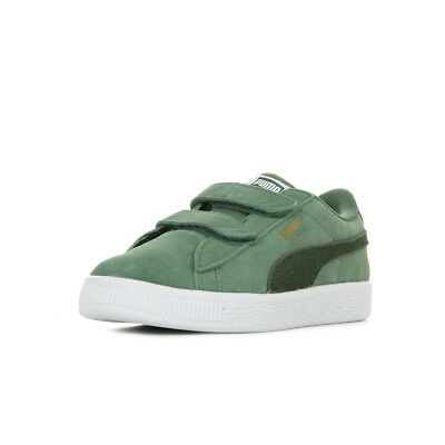 1c8b73addeb56 Chaussures Baskets Puma unisexe Suede Classic V PS taille Kaki Cuir Scratchs