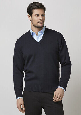 Jbs Knitted Wool Pullover V-Neck Men's Jumper Office Corporate Casual Work 6J