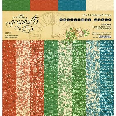"Graphic 45 Double-sided Paper Pad 12""x12"" 16/pkg-christmas Magic, 8 Designs/2"