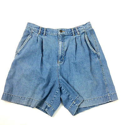 Vintage LizWear Womens Shorts Plus Size 14 Denim High Rise Waist 1990s Mom Jeans