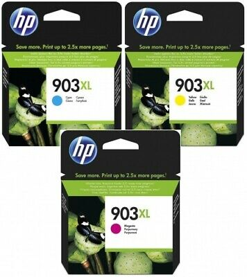 3x Original HP 903 XL Tinte Patronen OfficeJet PRO 6966 6968 6970 6974 6975 MHD
